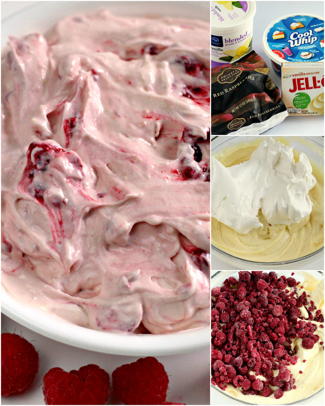 Raspberry Vanilla Jello Salad is one of the easiest recipes you will ever make and it