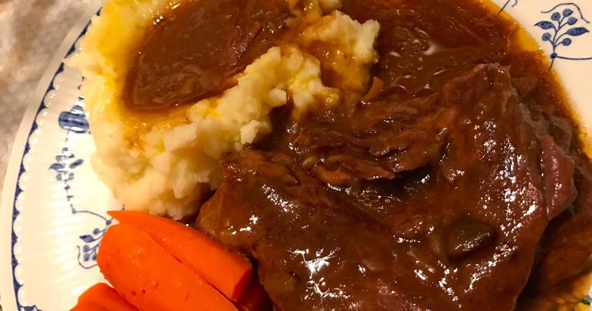 Crock Pot Roast In Golden Mushroom Wine Sauce