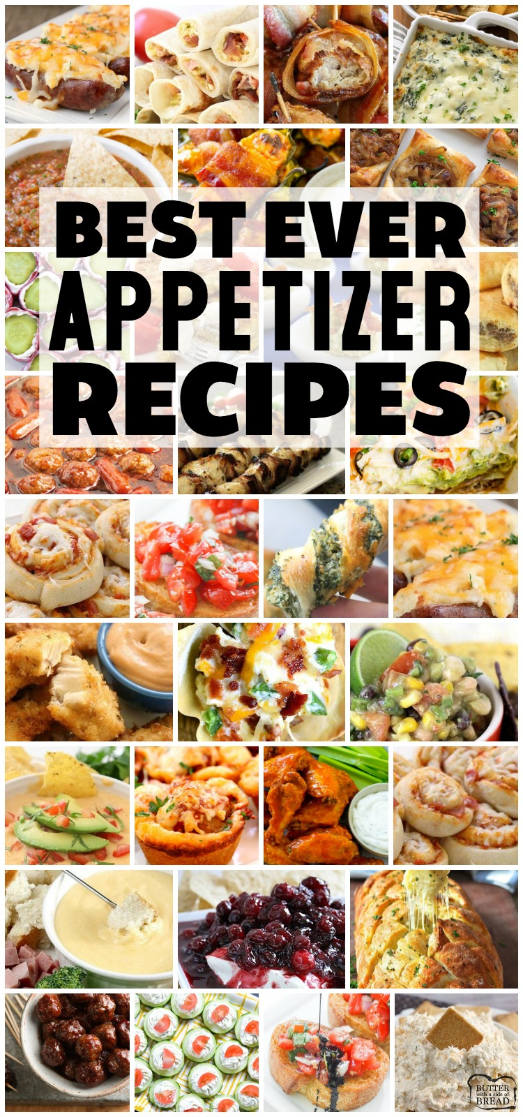 Easy appetizer recipes with few ingredients and minimal prep time are exactly what you need for any party! Fantastic collection of the BEST simple appetizer recipes ever!#appetizers #recipe #snacks #appetizer #horsdoeuvres #recipes from BUTTER WITH A SIDE OF BREAD