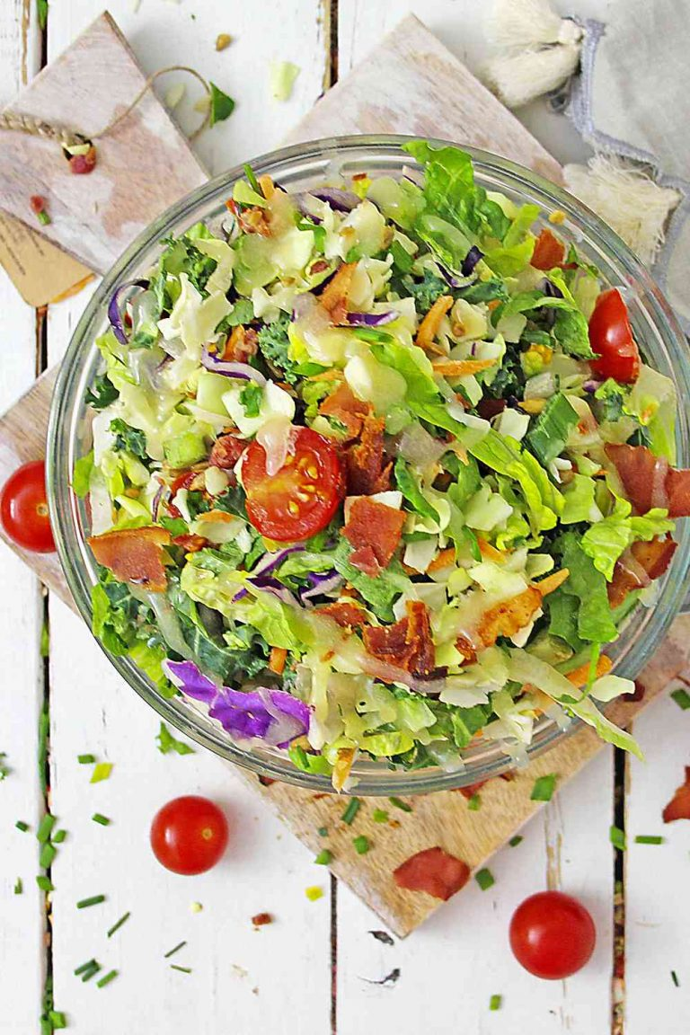 Crunchy Chopped Salad with Asian Dressing