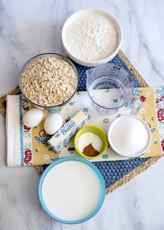 AnyTime, Any Kind Oatmeal Muffins Ingredients