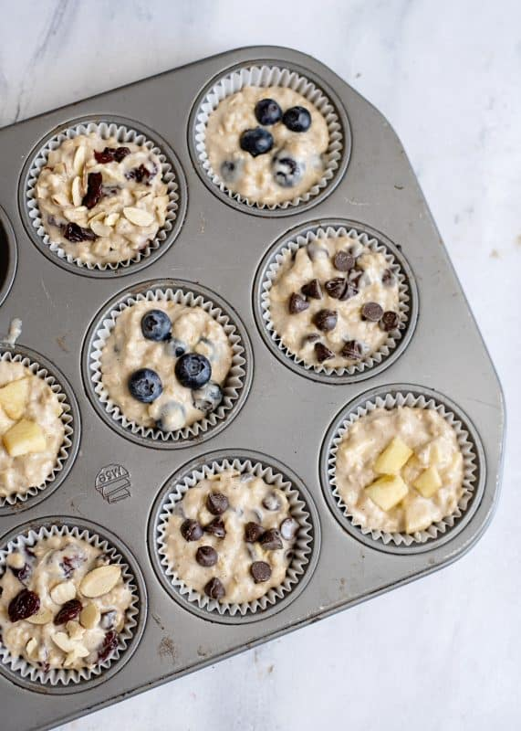 Ready To Bake AnyTime, Any Kind Oatmeal Muffins