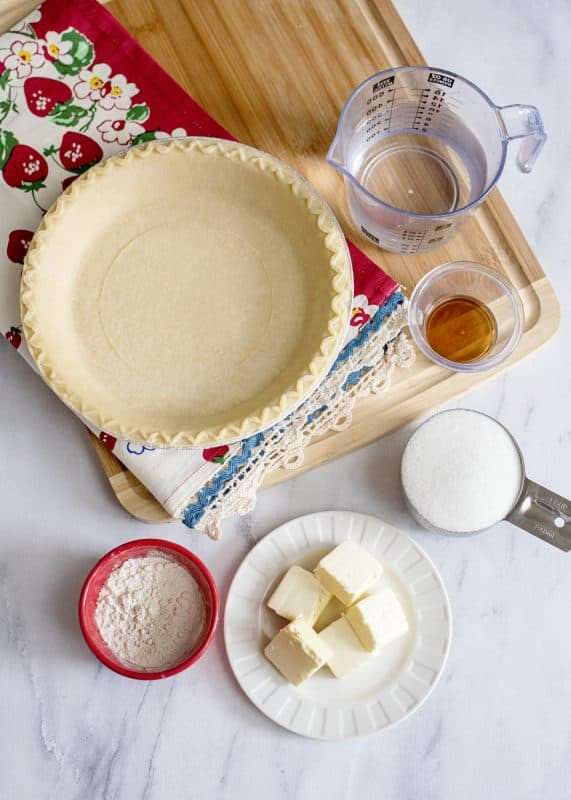 Ingredients for Water Pie - Recipe from the Great Depression