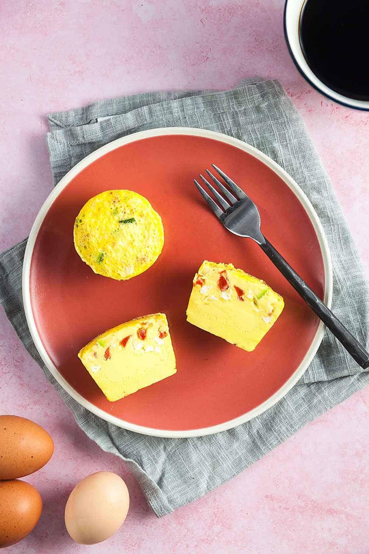 Zucchini, Red Pepper, and Feta Sous Vide Egg Bites