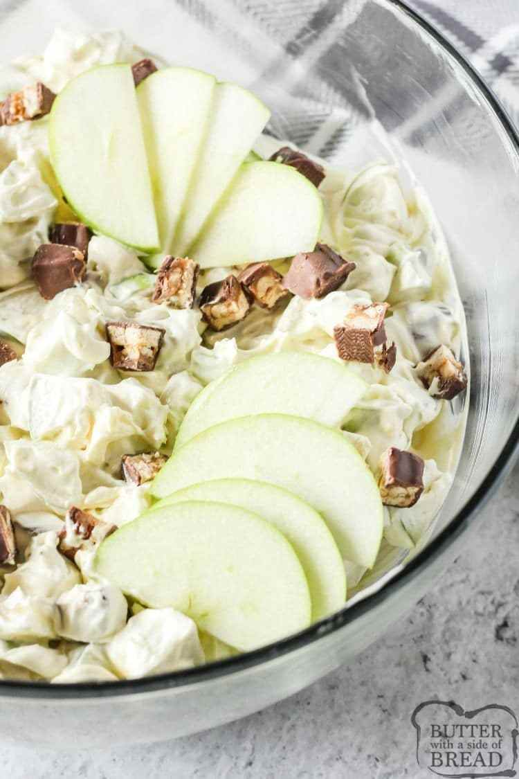 snickers salad image