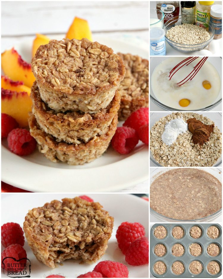How to make baked oatmeal cups