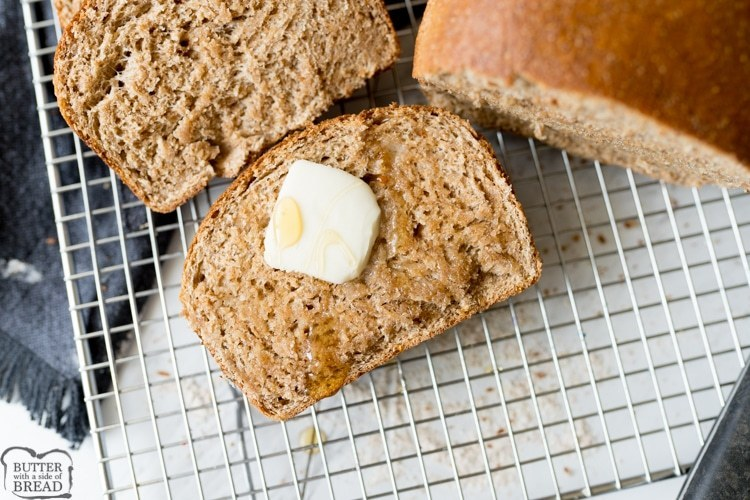 HONEY WHOLE WHEAT BREAD - Butter with a Side of Bread