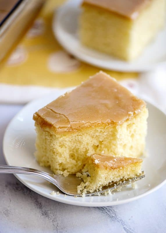 Take A Bite! Yellow Cake with Old Fashioned Peanut Butter Icing