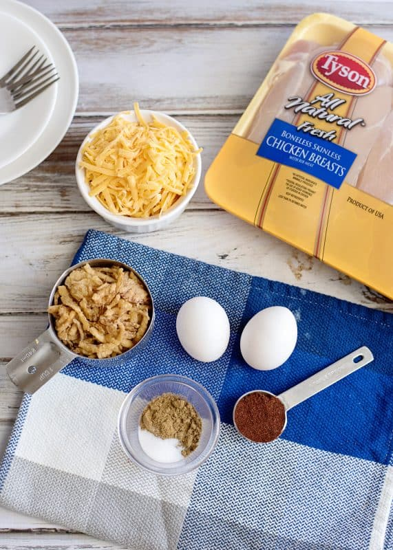 Ingredients For Crunchy Blackened Chicken