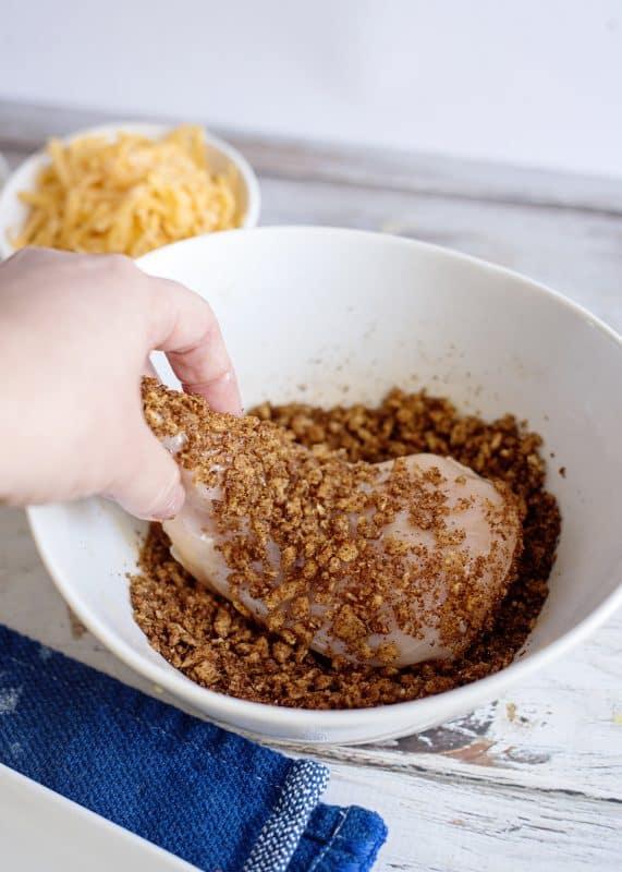 Breading Crunchy Blackened Chicken