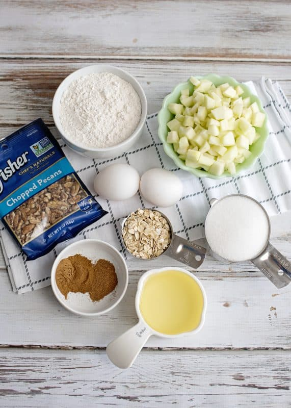 Ingredients for Mama's Apple Spice Muffins - Best Muffin I've Ever Tasted!
