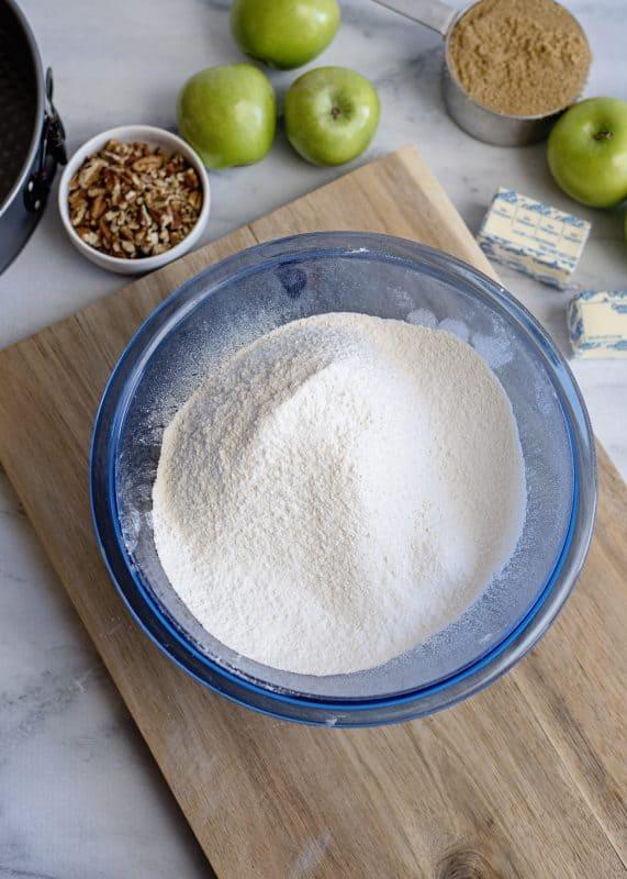 Making Apple Dapple Cake