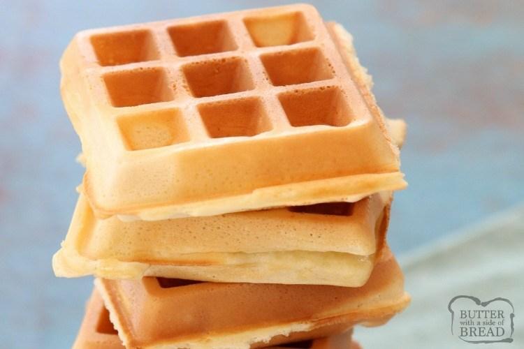 best Belgian Waffles ever crispy waffles