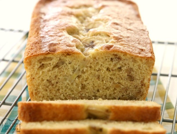 Easy Banana Bread is the simplest homemade banana bread recipe ever! Made with ripe bananas, a cake mix & 2 other simple ingredients.