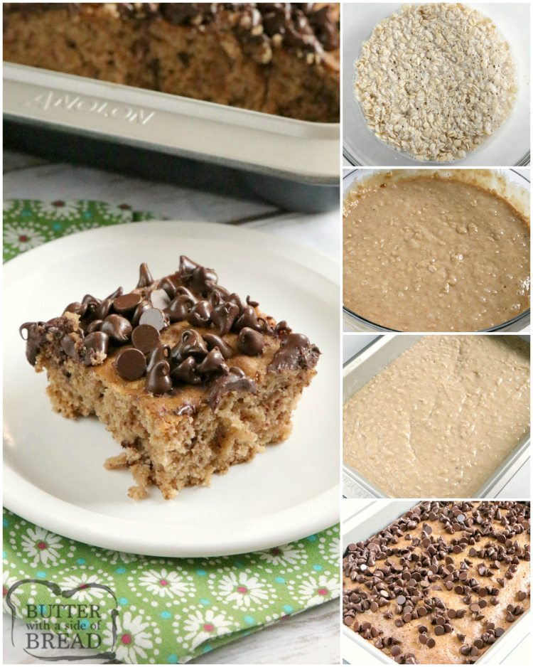 Step by step instructions on making oatmeal cake