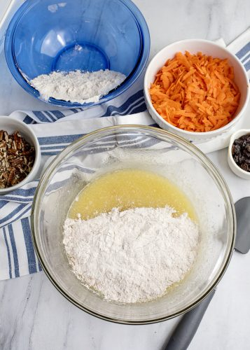 Making Carrot Cake Loaf