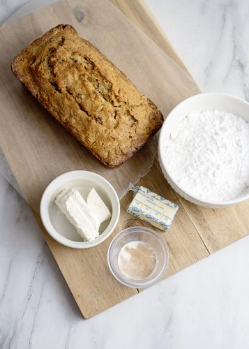 Icing Ingredients for Carrot Cake Loaf