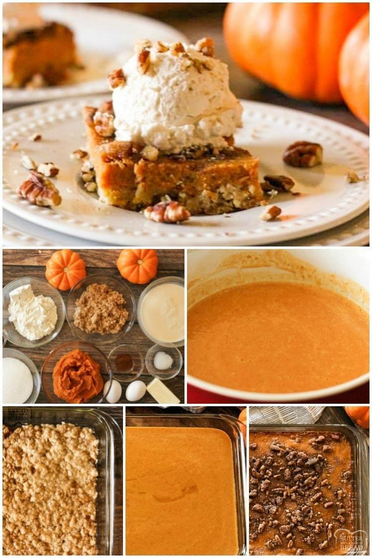 How to make pumpkin pie bars with oatmeal crust