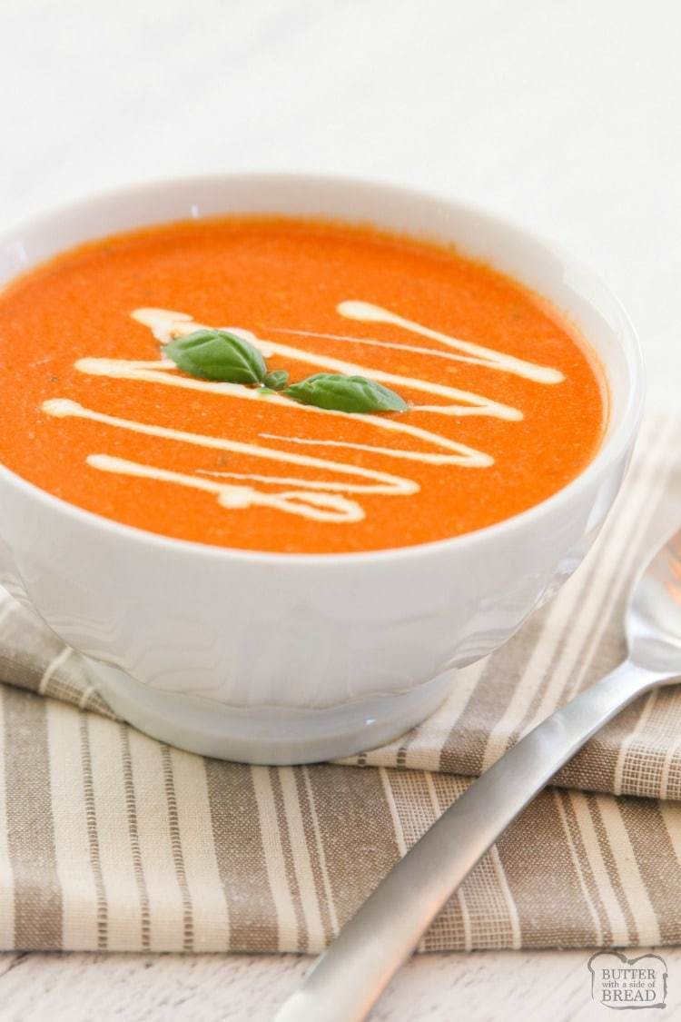 easy tomato basil soup recipe