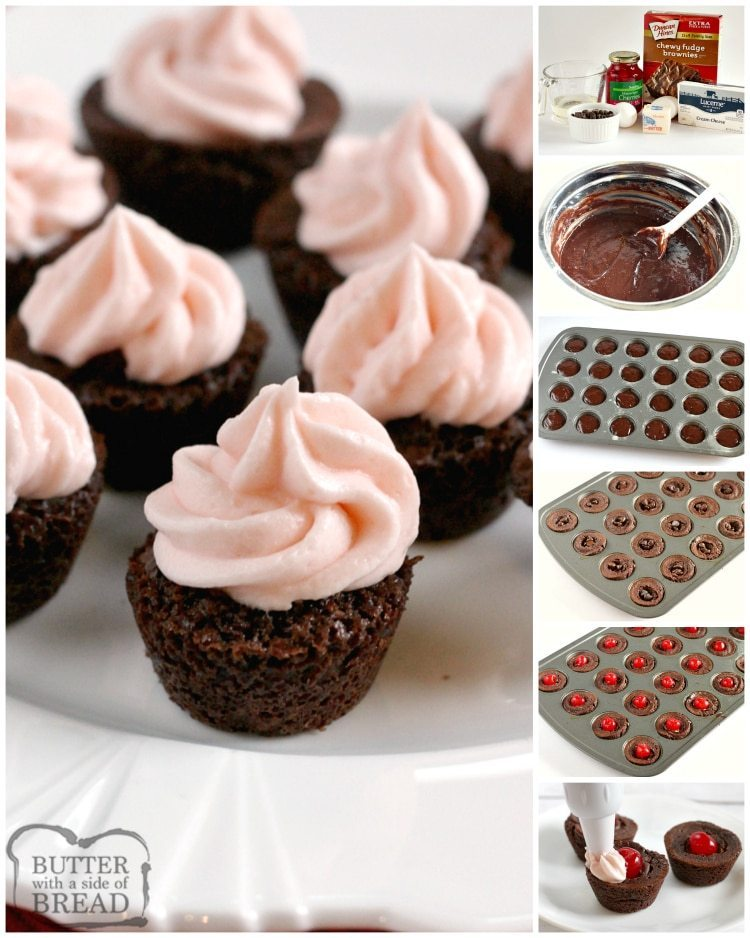Step by step instructions on how to make brownies with cherries and cherry frosting