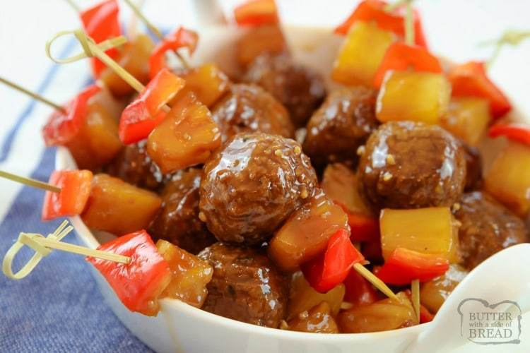 pineapple teriyaki meatballs