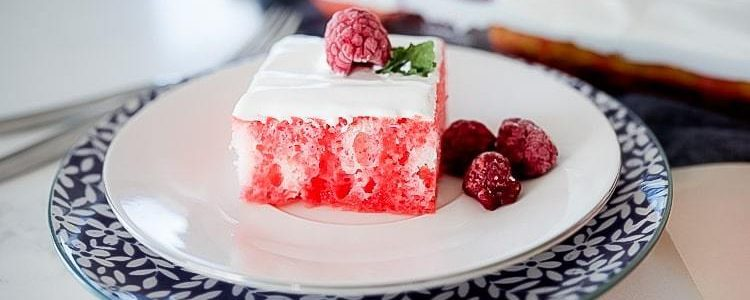 Raspberry Jello Poke Cake - Butter with a Side of Bread