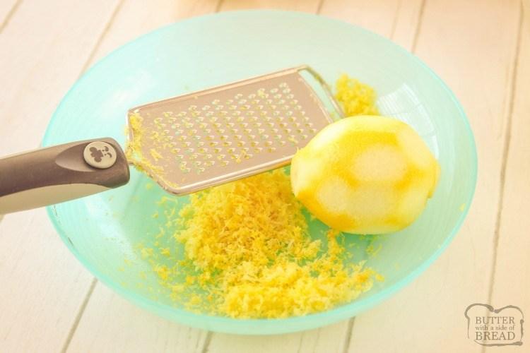 grating lemon zest for lemon curd