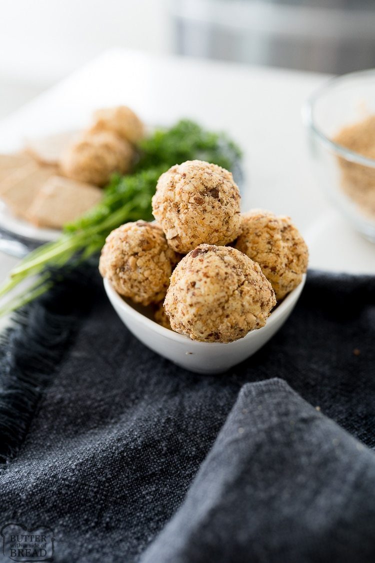 miniature cheese balls