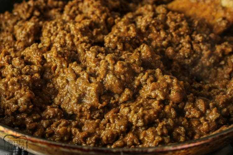 beef and bean mixture