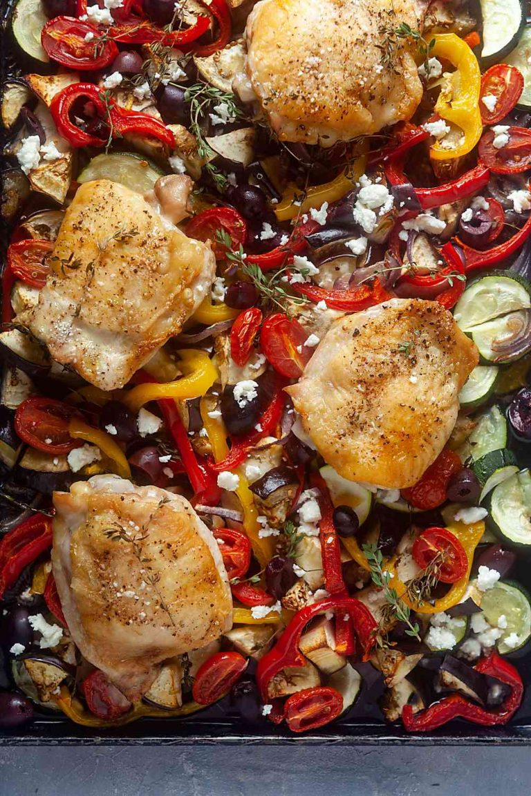 Sheet Pan Mediterranean chicken thigh recipe