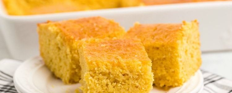 HOMEMADE CORNBREAD RECIPE - Butter with a Side of Bread