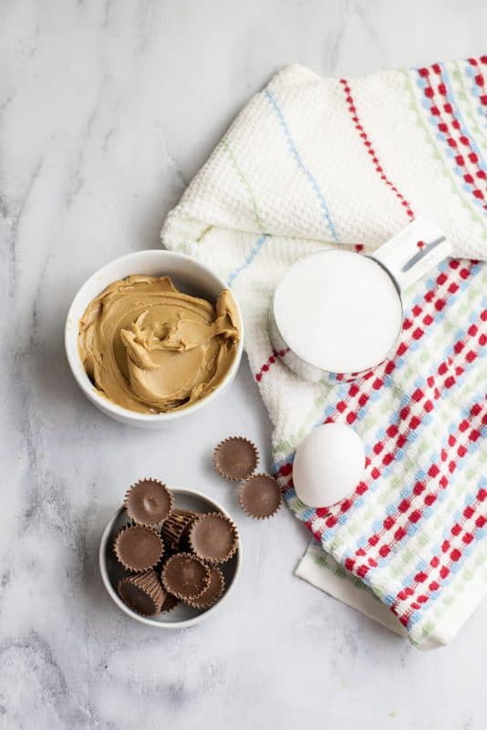 Ingredients for 3 Ingredient Peanut Butter Cookies