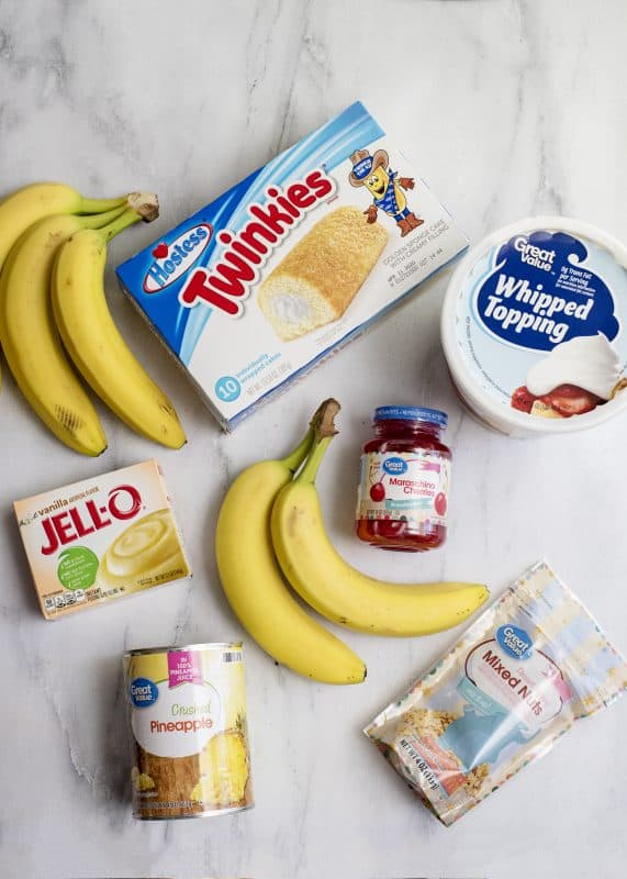 Ingredients for Twinkie Cake