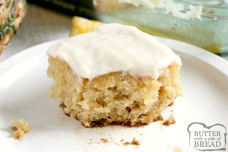 Simple cake recipe with crushed pineapple