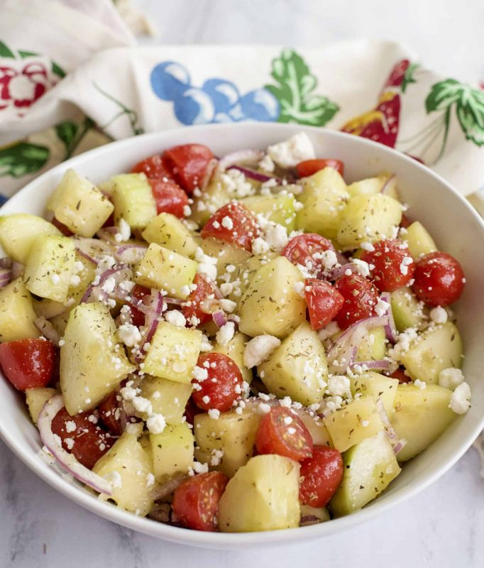 Greek Cucumber Salad- Healthy and Guilt Free!