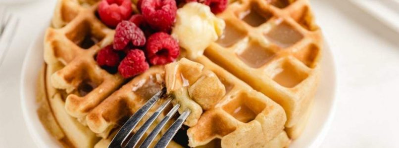 VANILLA ORANGE WAFFLES - Butter with a Side of Bread