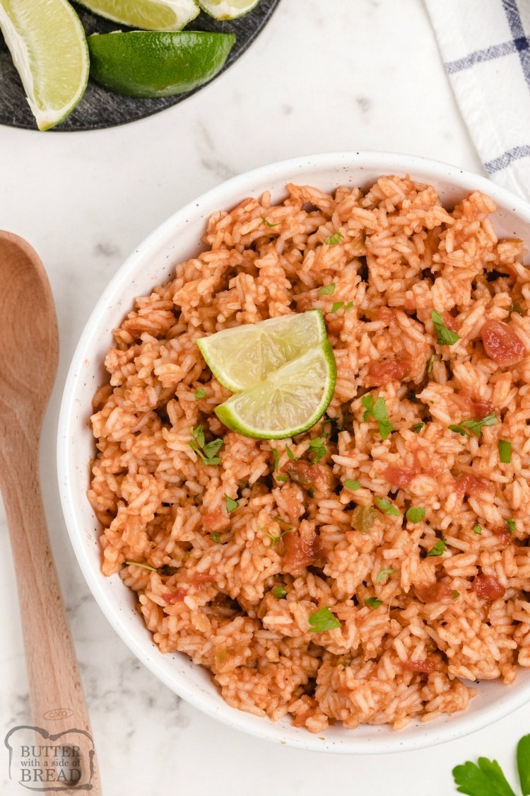 Spanish rice recipe with limes