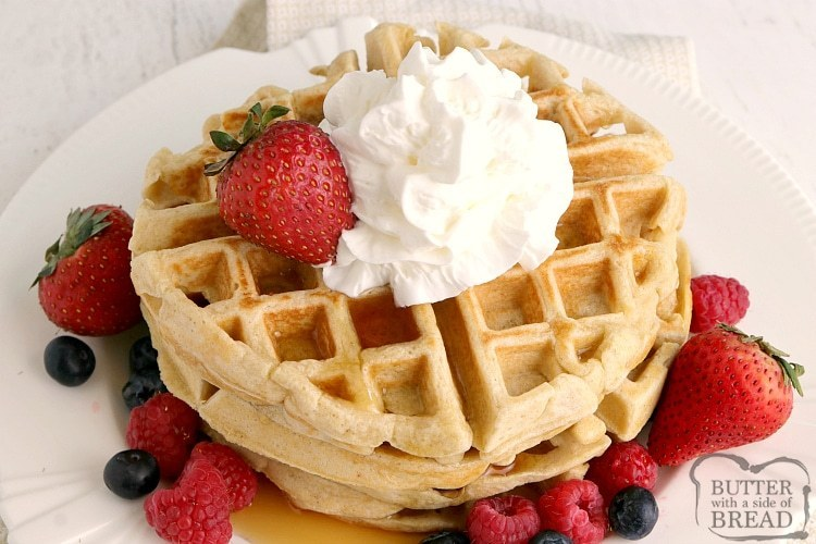 Gluten-free, protein waffles made with 3 ingredients