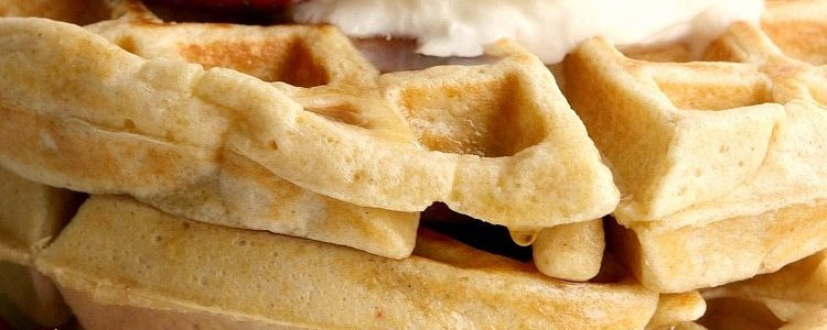 HIGH PROTEIN WAFFLE RECIPE - Butter with a Side of Bread