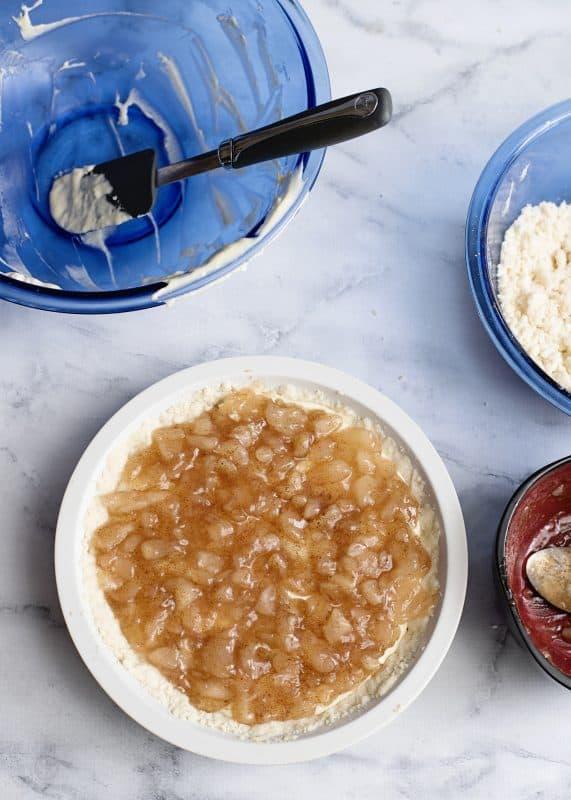 apple pie filling added