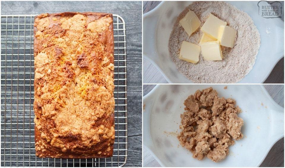 how to make Moist Cinnamon Sugar Streusel Pumpkin Bread recipe