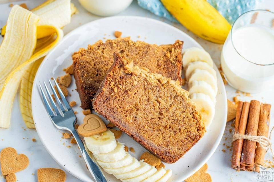 Easy Gingersnap Banana Bread recipe