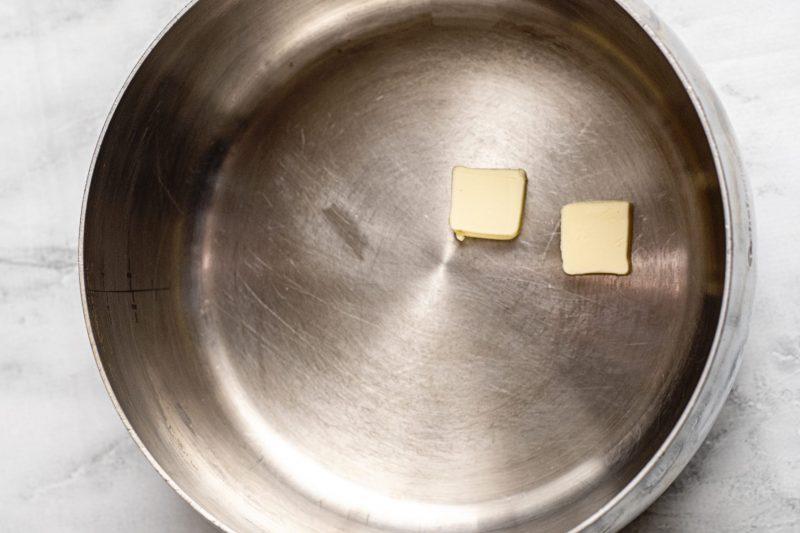 Melt butter for cauliflower soup