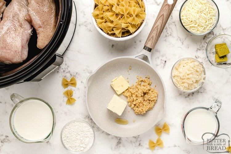 ingredients in chicken alfredo soup