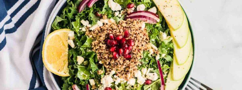 Harvest Kale Salad with Pomegranate + Apples (Vegetarian, Gluten-Free) 4