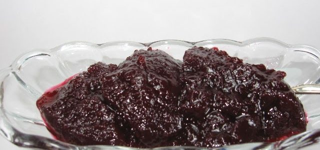 Coleen's Recipes: JELLIED CRANBERRY-APPLE SAUCE