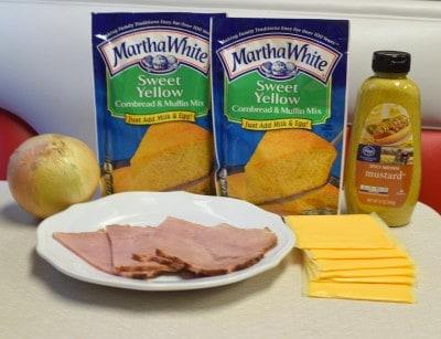 Cornbread Pan Sandwiches ingredients