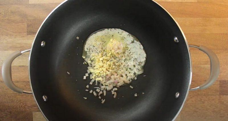 green bean casserole shallots butter garlic