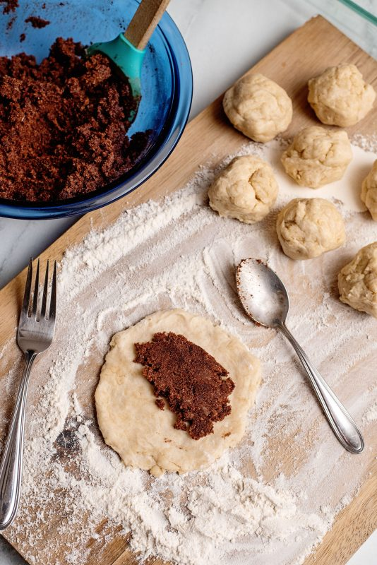 chocolate fried pies add filling