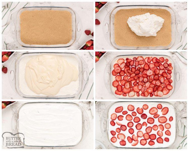 How to make Strawberry Cheesecake Lush recipe